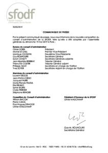 Renouvellement Conseil d'administration