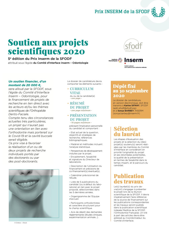 Prix Inserm SFODF 2020